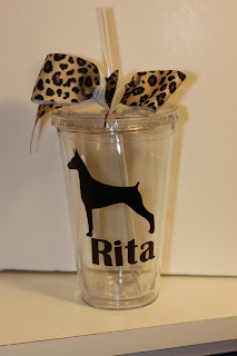 Dog Silhouette Acrylic Tumbler/Cup