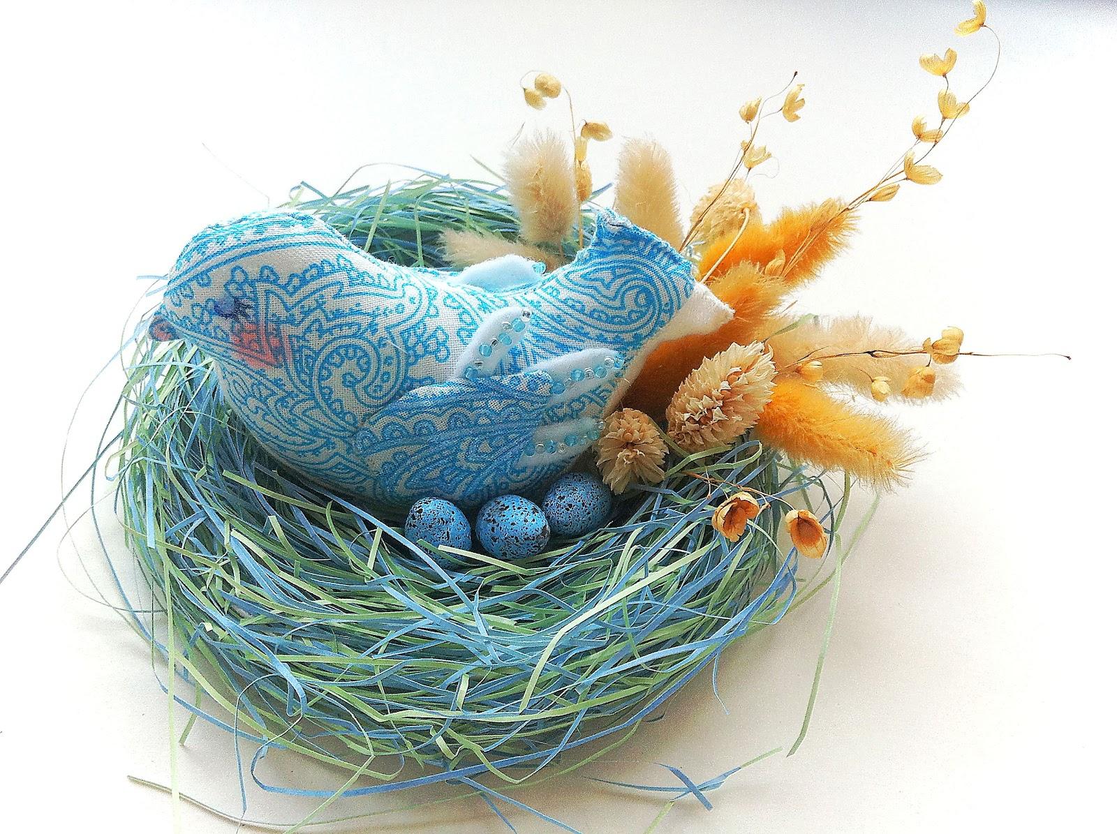 Гнездо и птичка своими руками