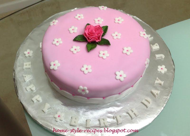 fondant cakes recipe