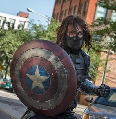 Sebastian Stan in Captain America The Winter Soldier - a clue of things to come?