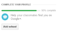 Google Plus Profile Completion School Suggestion SideBar