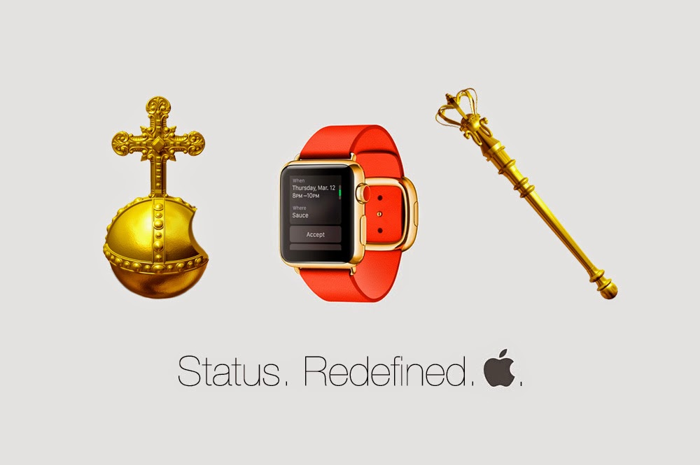 Apple offers orb and scepter as accessories for the Golden Apple Watch