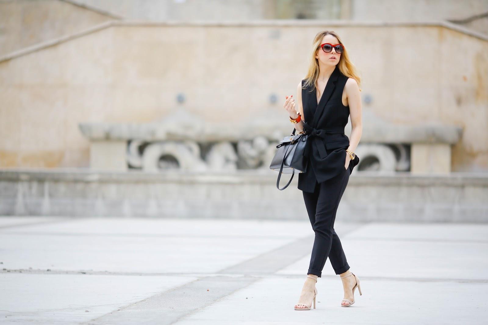 pardonmyobsession, streetstyle, all black, hermès, zara, gestuz, paris