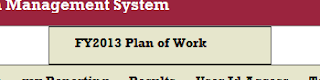 AIMS Screenshot of FY2013 Plan of Work button