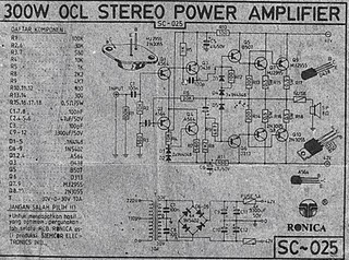 300W OCL AUDIO AMPLIFIER CIRCUIT DIAGRAM