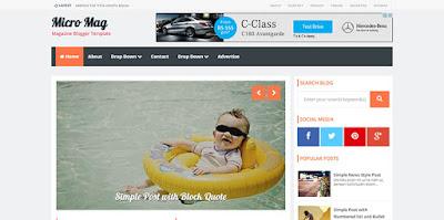 Chia sẻ template blogspot tin tức, tạp chí chuẩn Seo