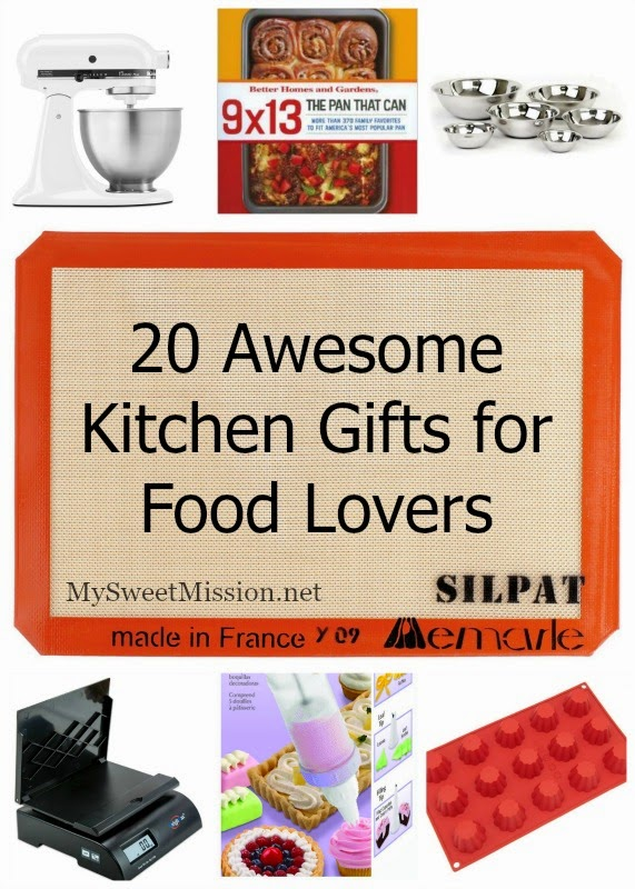 20 Awesome Kitchen Gifts for Food Lovers by MySweetMission.net