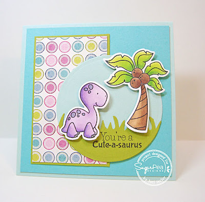 You're a Cute-a-Saurus card-designed by Lori Tecler/Inking Aloud-stamps from SugarPea Designs