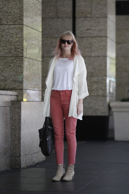 Jacklyn Borth Pink Pants seattle street style