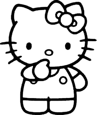 hello kitty colouring pictures - Coloring Pictures Of Hello Kitty