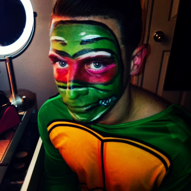 Sweet Glamour Makeup U2665 LADY GAGA HALLOWEEN MAKEUP AND TEENAGE MUTANT NINJA TURTLES MAKEUP!