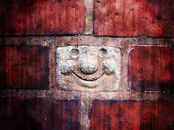 A happy brick