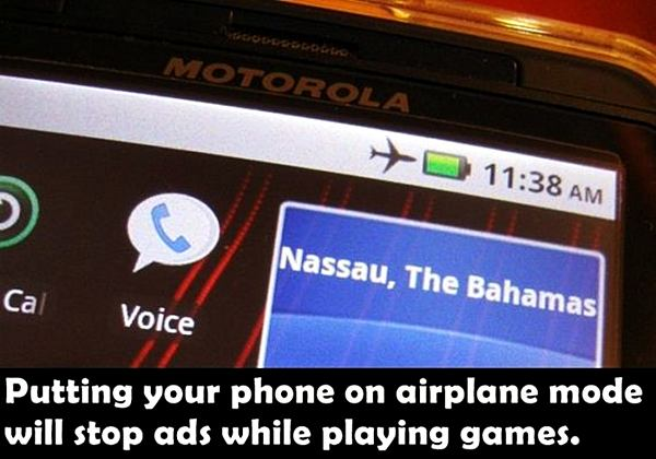 Putting your phone on airplane mode will stop ads while playing games.