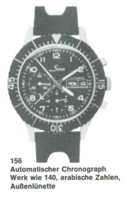Sinn 156, 1ere Generation 156+catalogue