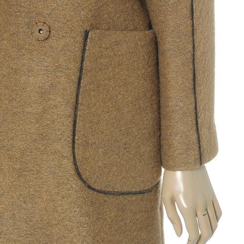 Drop High Neck Wool Coat