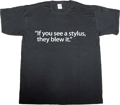 samsung, steve jobs, apple, iphone brilliant sentence t-shirt ephemeral-t-shirts