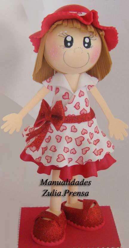 manualidades zulia prensa muñeca en foami