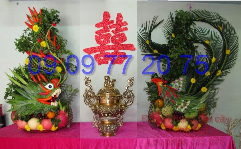Rồng phụng trái cây đầu thấp
