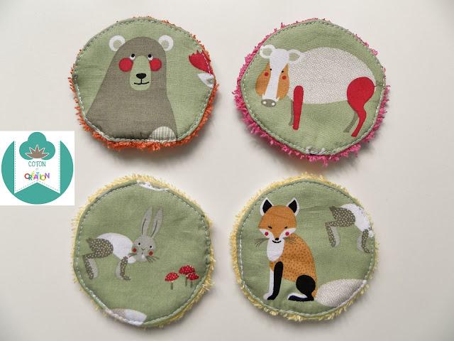 Coton et Création : lingettes lavables