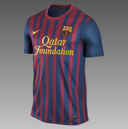 on New Barcelona Kit 2011 2012 Unveiled   Qatar Foundation   Footy Utopia
