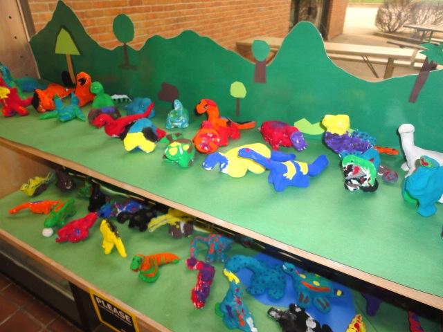 2nd Grade Clay Dinosaurs