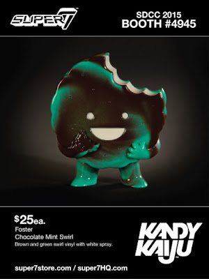 "San Diego Comic-Con 2015 Exclusive ""Chocolate Mint Swirl"" Kandy Kaiju Mini Vinyl Figures by Super7 - Foster"