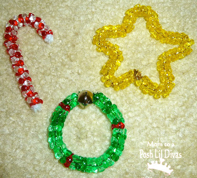 Bead Ornaments for Christmas (Photo from Mom to 2 Posh Lil Divas)