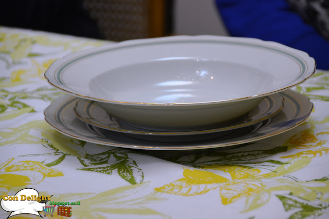 white serving plates