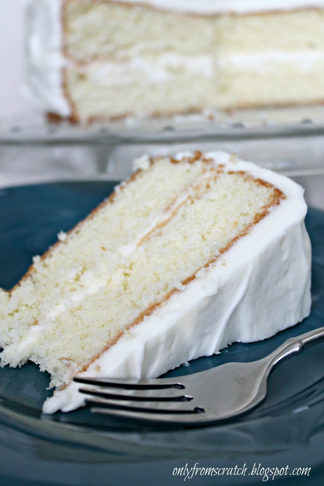 Only From Scratch Simple Layer Cake with Vanilla Frosting from