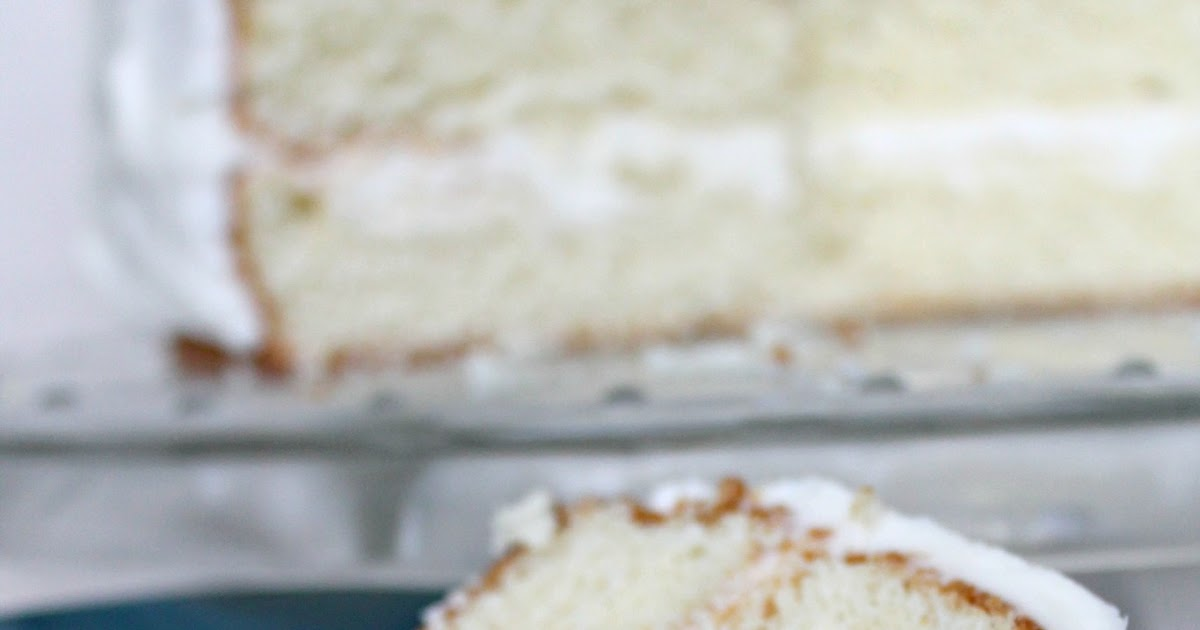 Only From Scratch: Simple Layer Cake with Vanilla Frosting ...