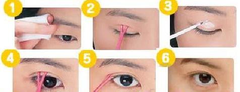 Как сделать веки на глазах