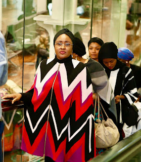 Aisha Buhari heading to Brussels with over 1 Million @ferragamo stylish dress outfit