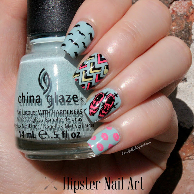 Let S Talk Nail Art: Liquid Jelly: [Nail Art] Let's Be Hipster With MoYou