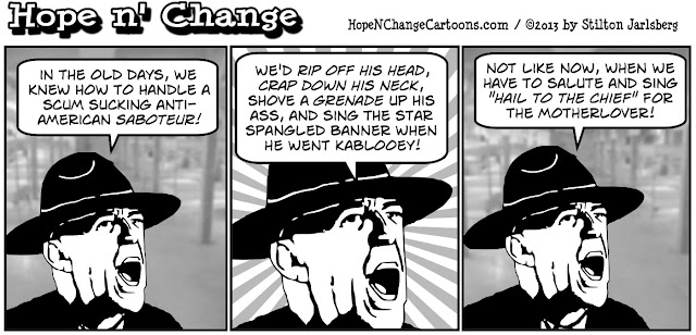 obama, obama jokes, ermey, f lee ermey, stilton jarlsberg, hope n' change, hope and change, saboteur, sequester, conservative, tea party