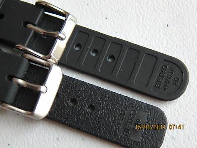 Seiko Black Rubber Strap