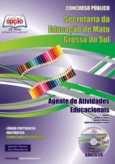 Apostila Concurso SED MS Agente de Atividades Educacionais SAD/SED 2013