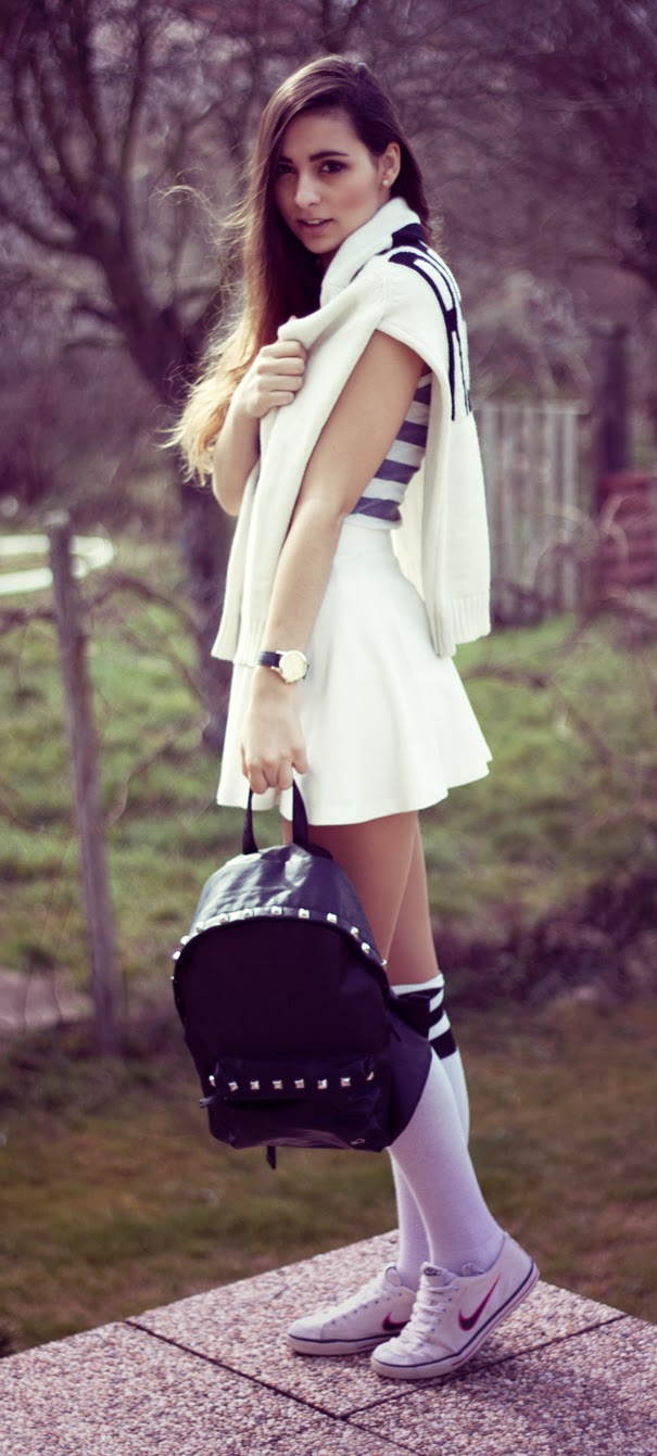 sporty and girly outfit