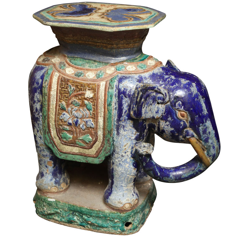 Chinoiserie Chic: The Elephant Side Table High/Low