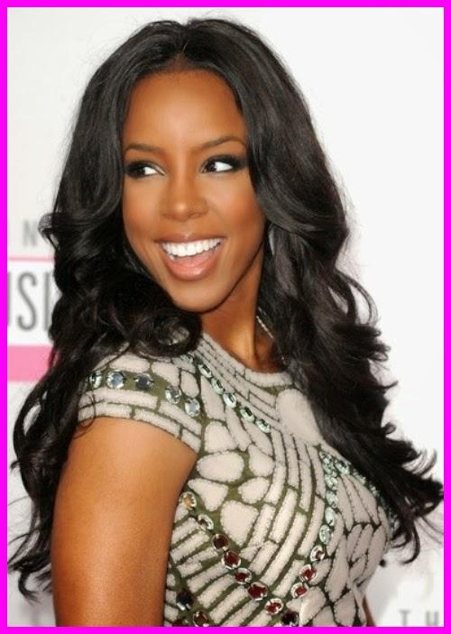 Kelly Rowland Weave Hairstyle Long Glamorous Curls Hair Ideas