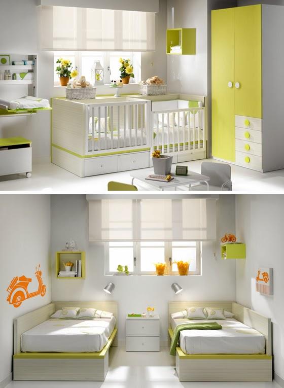 DORMITORIO PARA BEBES GEMELOS - CUNAS PARA GEMELOS vía http://dormitoriobebes.blogspot.com/2014/03/dormitorio-para-bebes-gemelos-cunas.html