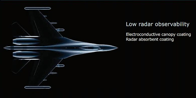 Radar cross-section (RCS) yang diklaim lebih kecil oleh Sukhoi dalam generasi Su-35