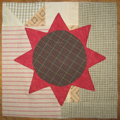 Applique Star on Scrappy Background