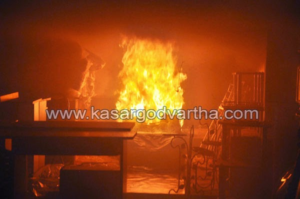 Kasaragod, Fire, Fire Force, Business, Nayaks Road, Metro Furniture, Adkathbail, Abdul salam, Carpet, Sofa Set, Plastic, Showroom.