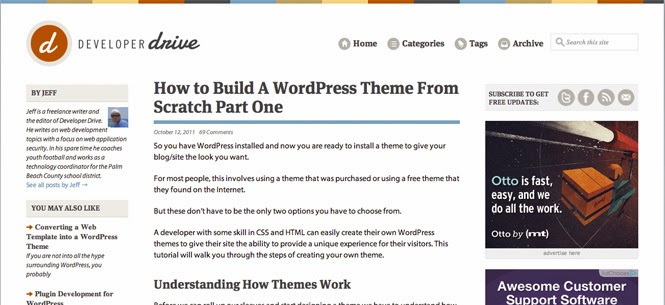 A WordPress Theme From Scratch Part One