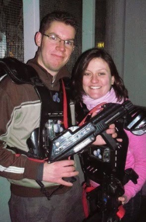 Richard and Emily Gottfried at Star Command Laser Tag in London in 2011