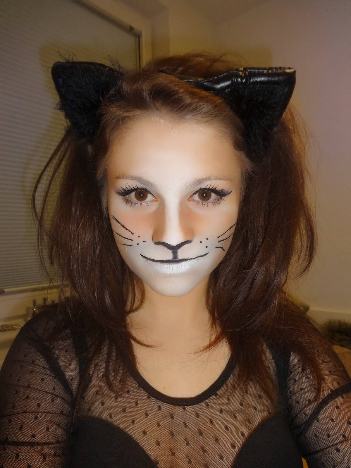 Uncategorized Cat Whiskers Face Paint abbroseee my halloween face of the night night