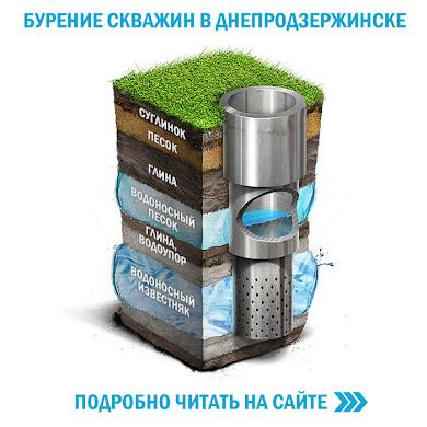 Бурение скважин на воду в Днепродзержинске и Днепропетровской области.