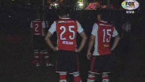 Segundo, Corte de luz, apagon, apagón, Libertad, Libertad de Paraguay, River, River Plate, Copa Sudamericana, Sudamericana, 2014