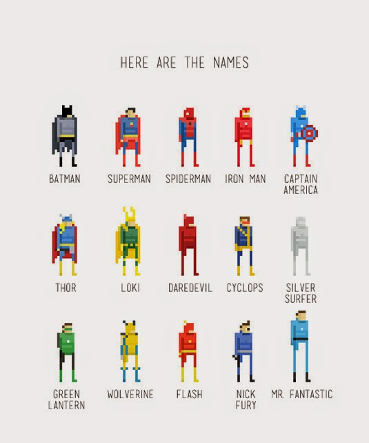 Comicbook heroes Pixel Art