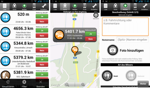 monitor traffic jam with android app